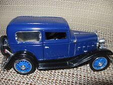 1932 Chevy Standard Coach die cast toy collectible Midnight Blue