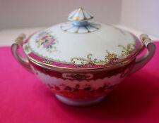 MZ ALTROHLAU CZECHOSLOVAKIA  Rose Floral Pattern Sugar Bowl with Lid    Vintage