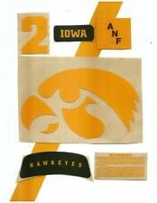 Iowa Football Helmet Decals Free Shipping ANF Game