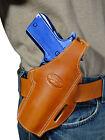 New Barsony Tan Leather Pancake Gun Holster for FN HK GLOCK Full Size 9mm 40 45