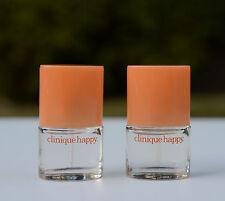 Lot 2 x Clinique Happy Perfume Mini Spray .14oz/4ml each, total 0.28oz / 8ml