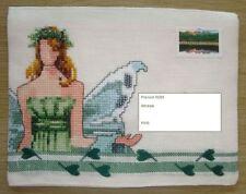 """Enveloppe brodée """"La fée-fleurs N°1"""", prête à l'envoi et personnalisable"""