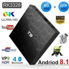 RK3328 T9 Android 8.1 4K TV BOX Quad Core WiFi 4G+32G BT4.0 HDMI 3D Media Player