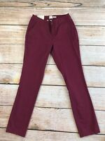 X32 Womens A New Day Red Burgundy Stretch NEW NWT Pants 2