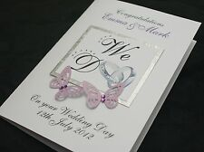 LARGE Handmade Personalised 'WE DO' Congratulations Wedding Card