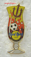 Hard Rock Cafe MANCHESTER Hurricane Glass Pin .