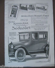 "Vintage Kisselkar 4 Passenger Sedanlet Ad ""Strikes Every Woman's Fancy"""