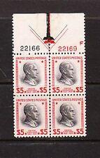 Scott #834 - $5 Coolidge - MINT  XF  NH  PB OF 4