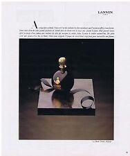 PUBLICITE ADVERTISING 054 1978 LANVIN la Boule Noire d'Arpège