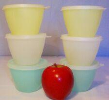 Tupperware PASTEL lot ~6 Refrigerator Bowls 14 oz ~Freezer ~Lunch Box ~Hobbies