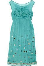 Philosophy DI A Alberta Ferretti Embellished 12 SILK CHIFFON DRESS NWT US8 $1010