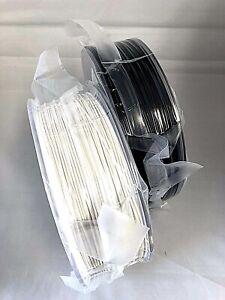 2pack (1 White+1 Black) PLA 3D Filament 1.75mm 1kg each MarkerBot Pruza