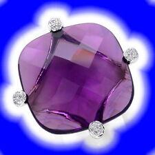 Echte Diamanten-Ringe aus Weißgold mit Amethyst