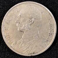 1905 Danish West Indies 1 One Franc 20 Twenty Cents Silver Coin XF SCARCE