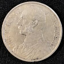 1905 Danish West Indies 1 One Franc 20 Twenty Cents Silver Coin XF SCARCE