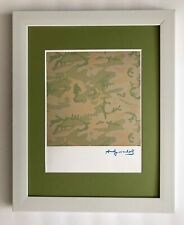 ANDY WARHOL ORIGINAL 1984 SIGNED CAMOUFLAGE PRINT MATTED TO BE FRAMED AT 11 X 14