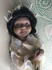 Small Dark Skinned Girl Tree Topper Star Dress Long Hair