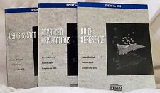 SYSTAT for DOS Version 6 Manuals:  Quick Reference, Using Systat, Advanced Apps