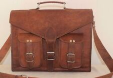 Bag Leather Vintage Shoulder Purse Brown Handbag Messenger Women's Laptop Large