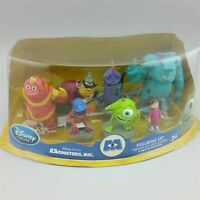 DISNEY MONSTER INC 7 Pvc  PLAYSET Disney Pixar Mike Sulley Boo Randy George NEW
