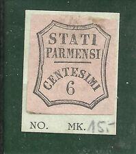 Parma - Zeitungsstempel - Mi-Nr. 2  schwarz a/ rosa, 6 Cmi. ungebraucht