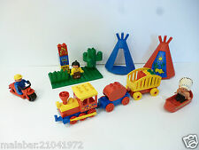 👿 Jouet Lot Lego Duplo Un Train, Et Des Indiens