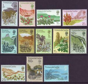 Tristan da Cunha 1972 SC 162-173 MNH Set Plant