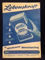 Vitalità IN Ogni Goccie Wilhelms Dorsch Merluzzo Targa di Latta Blu D 1950
