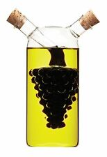 Decorative Italian Glass Dual Oil And Vinegar Bottle Grapes Shaped Design New