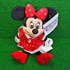 "NEW Walt Disney Store Mini Bean Bag VALENTINE'S MINNIE 8"" Plush Toy - Ships FREE"