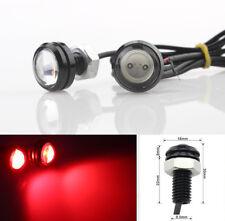 2 Pcs Eagle Eye Red COB LED 2W Daytime Running DRL Tail/Head Lights Backup 12V