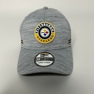 New Era Steelers Official NFL Sideline Home 39Thirty Stretch Fit Hat Sz L/XL NEW