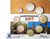 Niederlande Euro KMS 2017 Kursmünzen Satz 1 Cent bis 2 Euro im Amsterdam Blister