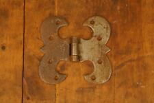 "Antique Primitive Wrought Iron Early 19th Century Door Trunk Hinge 4"" by 4 1/4"""
