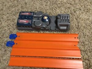 - Mattel Hot Wheels Launcher Motorized Speed Booster Blue Tested Working Track