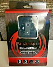 Renegade Blue Tooth Headset Sound Quality & Design Black Rechargeable Bluetooth