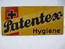 """Werbeschild """"Patentex-Hygiene"""" Hersteller Felix Krokert & Co , Halle A/S"""