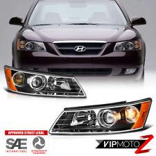 "For 2006-2008 Hyundai Sonata 'KDM STYLE"" Black Front Headlights Headlamps PAIR"
