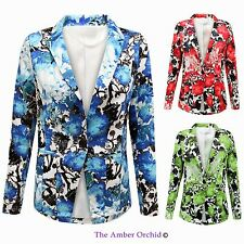 Button Casual Floral Coats & Jackets for Women
