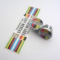Celebrating Eddy Merckx, The Cannibal 525 Wins, Chrome Bar Plugs & Bar Trim Tape