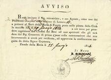 Regno d'Italia Regnante Napoleone Convocazione al Burò della Meria di Fiesole