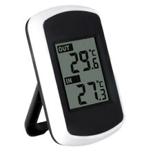Digital Lcd Indoor / Outdoor Wireless Weather Station w/ Sensor Thermometers Abs