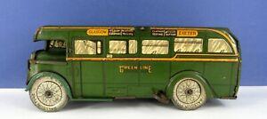 WELLS O LONDON / WELLS BRIMTOY TINPLATE CLOCKWORK GREEN LINE BUS