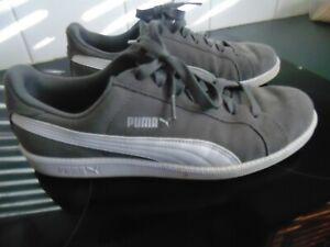 PUMA mens casual shoes.grey. size us .10.