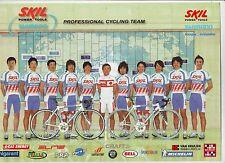 CYCLISME carte EQUIPE CYCLISTE SKIL SHIMANO 2006  format 30 x 21 cm