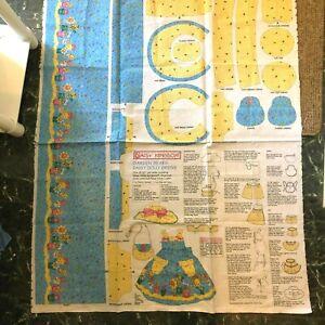 """Daisy Kingdom Garden Bears Daisy Dolly Dress Fabric Panel, """"98 by Past & Present"""