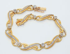 ART NOUVEAU French  18ct Yellow Gold & Platinum Diamond Bracelet  RRV $12,700.00