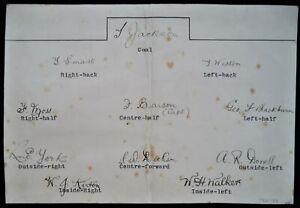 F.A CUP FINALISTS 1919-20, 1921-22 & 1923-24 ASTON VILLA F.C RARE INK AUTOGRAPHS