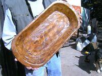 Wooden Farmhouse Dough Bowl 0901