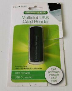 NEW MULTISLOT USB CARD READER (SIGNALEX) MS - SD - SDHC - Mini SD - Micro SD
